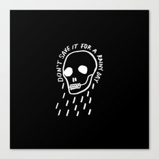 rainy day minimal skull hand lettering (dark) Canvas Print
