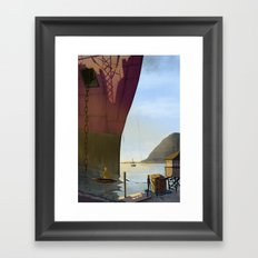 ANGRY FISHER Framed Art Print