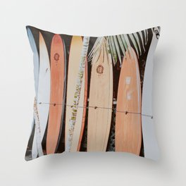 lets surf ii Throw Pillow