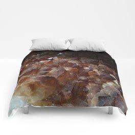 Citrine Crystal geode Comforters