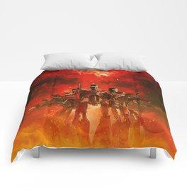In The Heat Of Battle Comforters