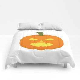 Halloween Pumpkin light Comforters