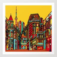 Sound of the city Art Print