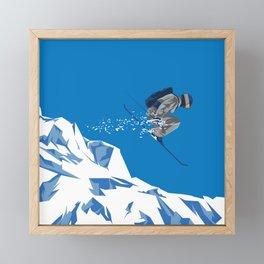 Ski Jump Framed Mini Art Print