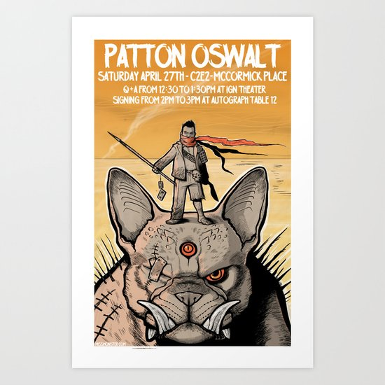 Patton Oswalt at C2E2 event poster Art Print