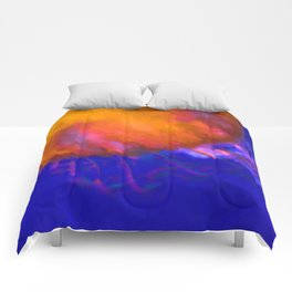 Orange Jellyfish Ocean Art  Comforters