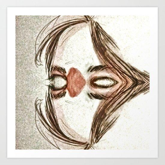 Mirror face Art Print