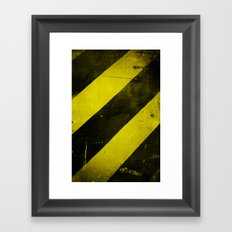 Warning II! Framed Art Print