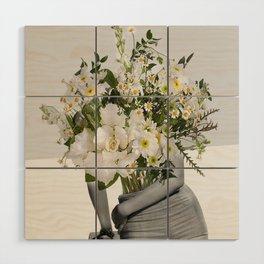 Flowers Spirit Collage Wood Wall Art