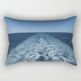 SEA BLUE WAKE AND HORIZON - Pacific Ocean Rectangular Pillow