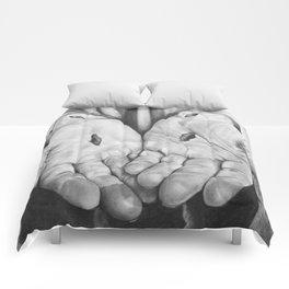 Jesus Hands Comforters