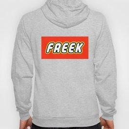 FREEK in Brick Font Logo Design by Chillee Wilson  Hoody