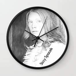 Sissy Spacek (Badlands,1973) Wall Clock