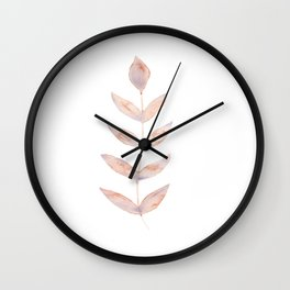 Rose Leaves Simplicity Wall Clock