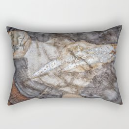 Petrified wood 3266 Rectangular Pillow