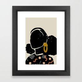 Black Hair No. 4 Framed Art Print