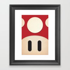 Minimal Powerup Framed Art Print