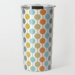 Retro Circles Mid Century Modern Background Travel Mug