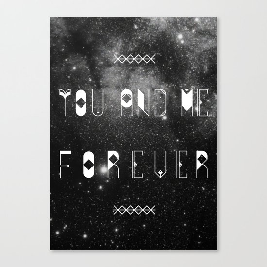 You and Me Forever Canvas Print