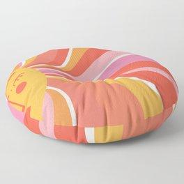 Sunshine Swirl – Pink & Peach Palette Floor Pillow