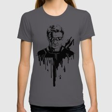 Avengers in Ink: Hawkeye Womens Fitted Tee Asphalt MEDIUM