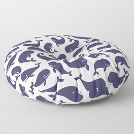 Moby Dick - White Floor Pillow