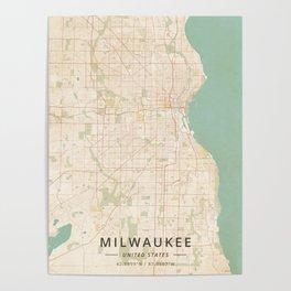 Milwaukee, United States - Vintage Map Poster