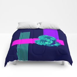 Neon Roses #society6 #roses Comforters