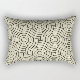 Circle Swirl Pattern Valspar America Natural Olive Green - Martinique Dawn - Asian Silk Rectangular Pillow