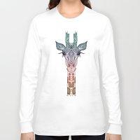 belle Long Sleeve T-shirts featuring GiRAFFE by Monika Strigel