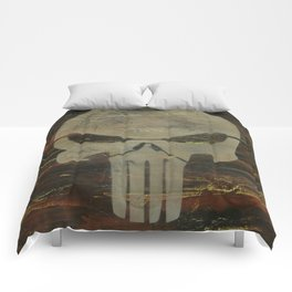 Apocalyptic Punisher painting Comforters