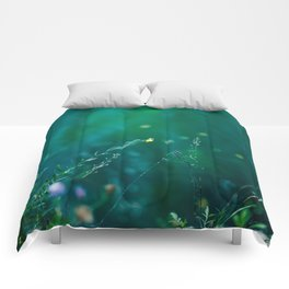 Fairy Tail - Flower on the Water - Magic Grass Comforters