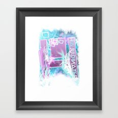 Halucinated H Crazy Chill Framed Art Print
