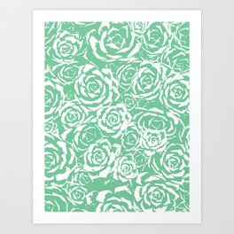 Succulent Stamp Light Green #524 Art Print