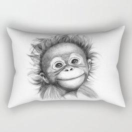 Monkey - Baby Orang outan 2016 G-121 Rectangular Pillow