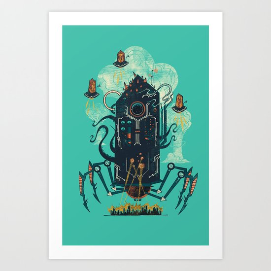 Not with a whimper but with a bang Art Print