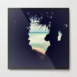Beach Frame Metal Print