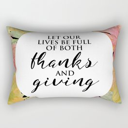 Thanks and Giving Rectangular Pillow