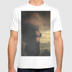 Are you there? Mens Fitted Tee White MEDIUM