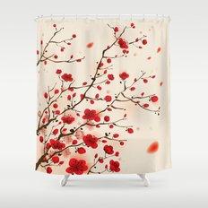 Oriental plum blossom in spring 006 Shower Curtain