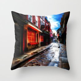 Medieval York Art Throw Pillow