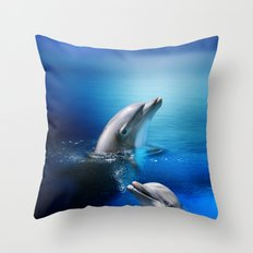 Dolphin Delight Throw Pillow