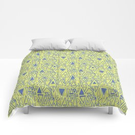 Chaotic Angles in Green by Deirdre J Designs Comforters