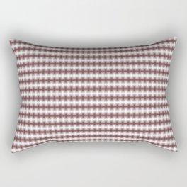 Pantone Red Pear Blurred Horizontal Lines Symmetrical Pattern Rectangular Pillow