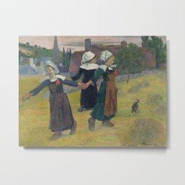 Breton Girls Dancing, Pont-Aven Metal Print