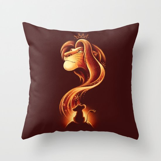 The New King Throw Pillow