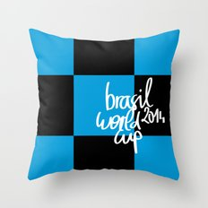 Brazil World Cup 2014 - Poster n°7 Throw Pillow
