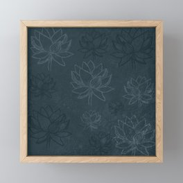 Blue lotus Framed Mini Art Print