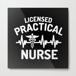 LPN heart, licensed practical nurse Metal Print