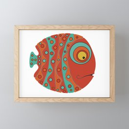 Fish art 21.1 Framed Mini Art Print